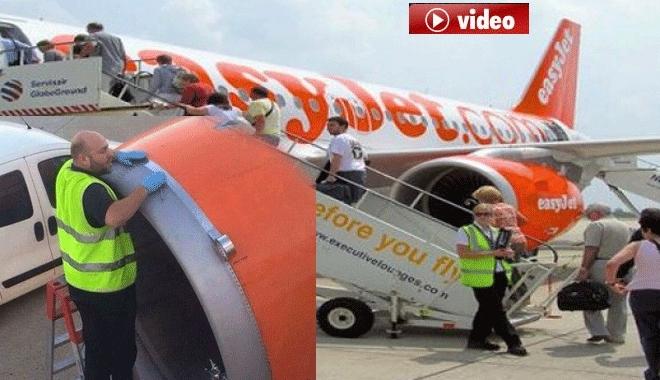 Uçak Motorunu Seloteyp ile Tamir Etti video