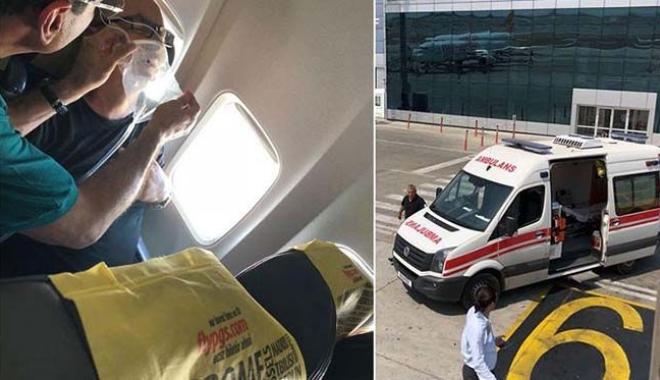 Uçakta yolcu kalp krizi geçirdi!