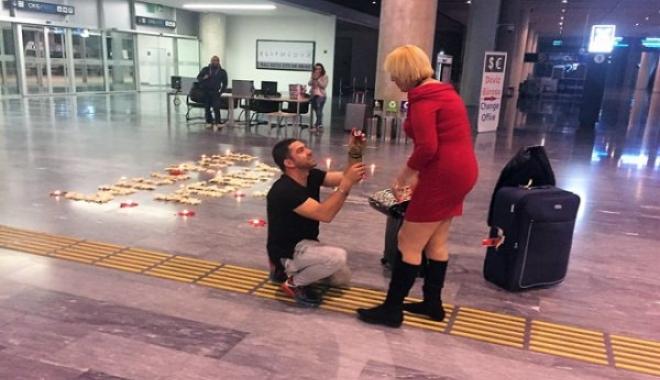 Uçaktan İner İnmez Evlenme Teklifi İle Şok Oldu