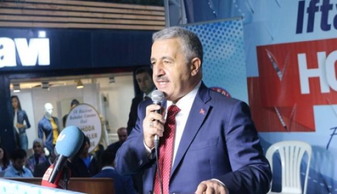 Ulaştırma Bakanı Arslan Ağrı'da