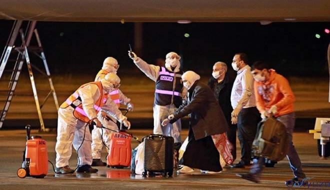 Ürdün'den 166 Türk uçakla Samsun'a geldi