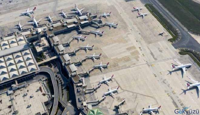 video THY uçakları Atatürk Havalimanı'na park edildi