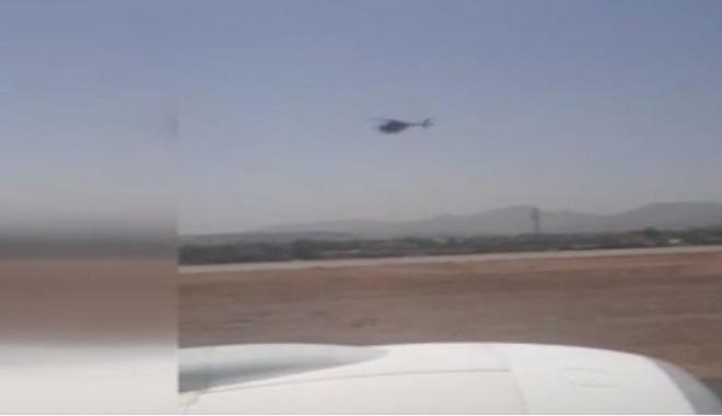 video#Helikopter desteğinde THY uçağı kalktı