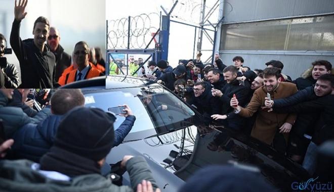 Zlatan Ibrahimovic çılgınlığı! Yüzlerce taraftar karşıladı