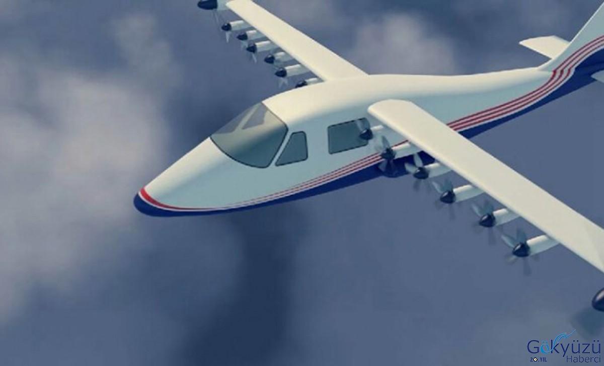14 Motor Bulunan Tam Elektrikli Uçak Geliştirdi