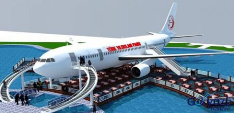 Airbus A300 tipi Uçak kafeterya oldu