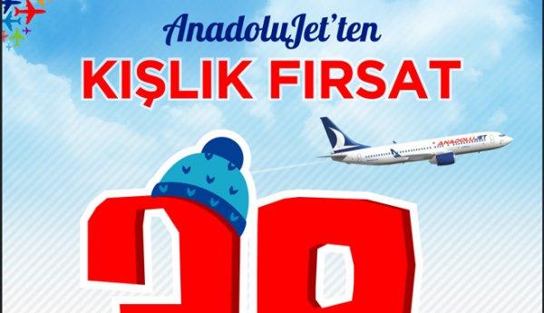 AnadoluJet'ten 39,99 TL'ye uçuş kampanyası.