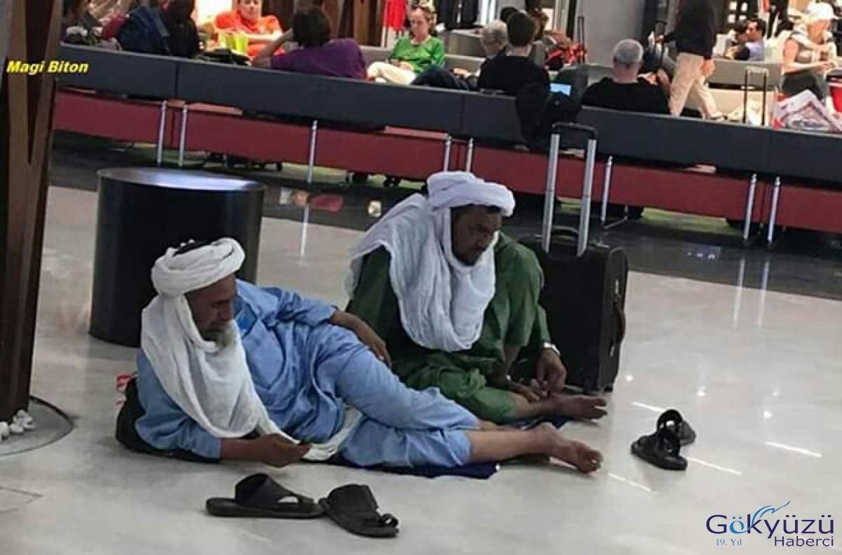 Arap yolcuların İstanbul Havalimanı keyfi!