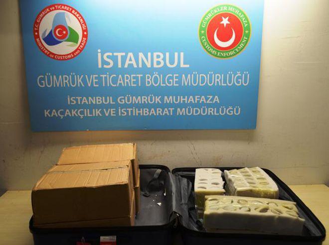 Atatürk Havalimanı'nda 802 ejderha yumurtası ele geçirildi