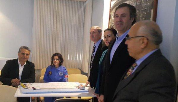 Başkan UYSAL,simulator uçuşu yaptı