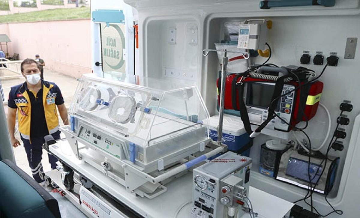 Bebekler için 50 'yenidoğan ambulansı'