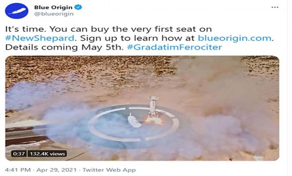 Blue Origin, uzay bilet satışına başlayacağını duyurdu