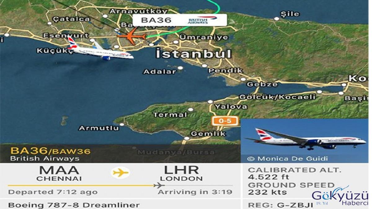 British Airways uçağı İstanbul'a acil iniş yaptı