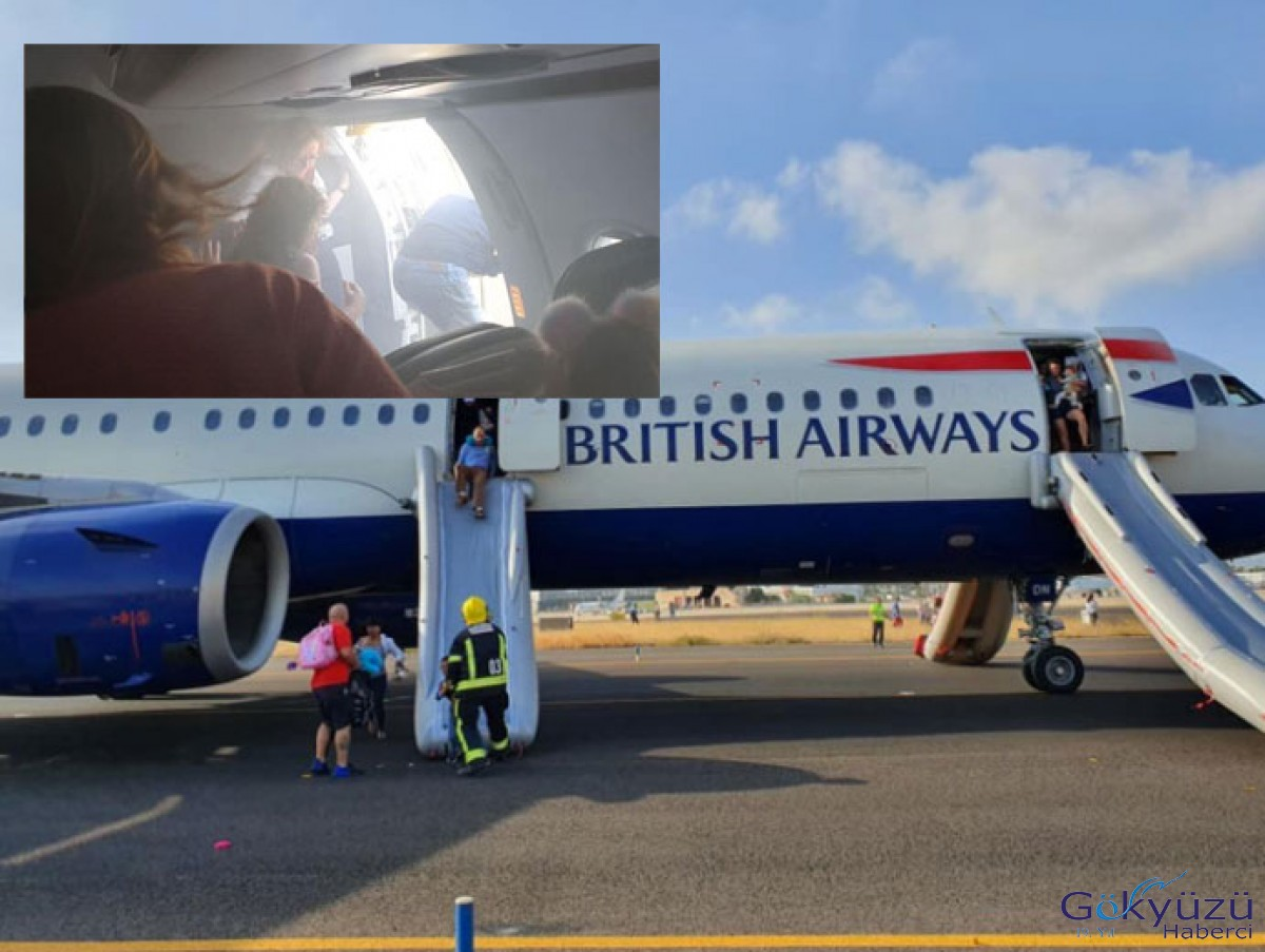 British Airways uçağında korku dolu anlar!
