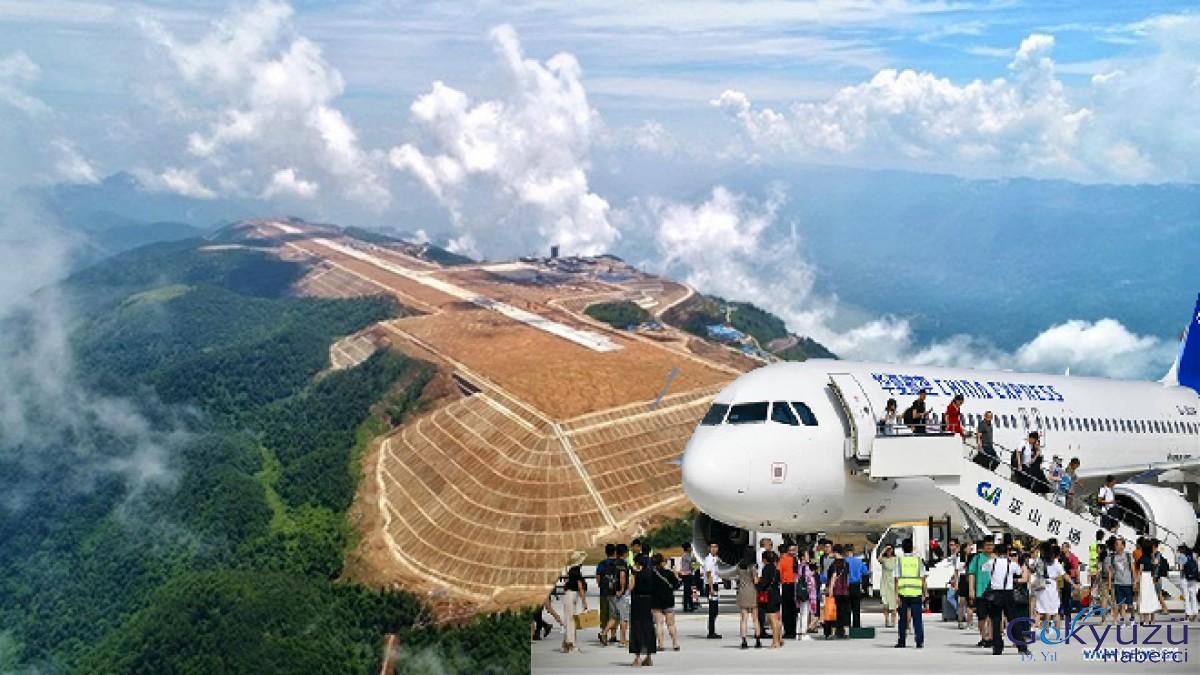 'Bulutlardaki havalimanı'nda ilk uçuş gerçekleştirildi