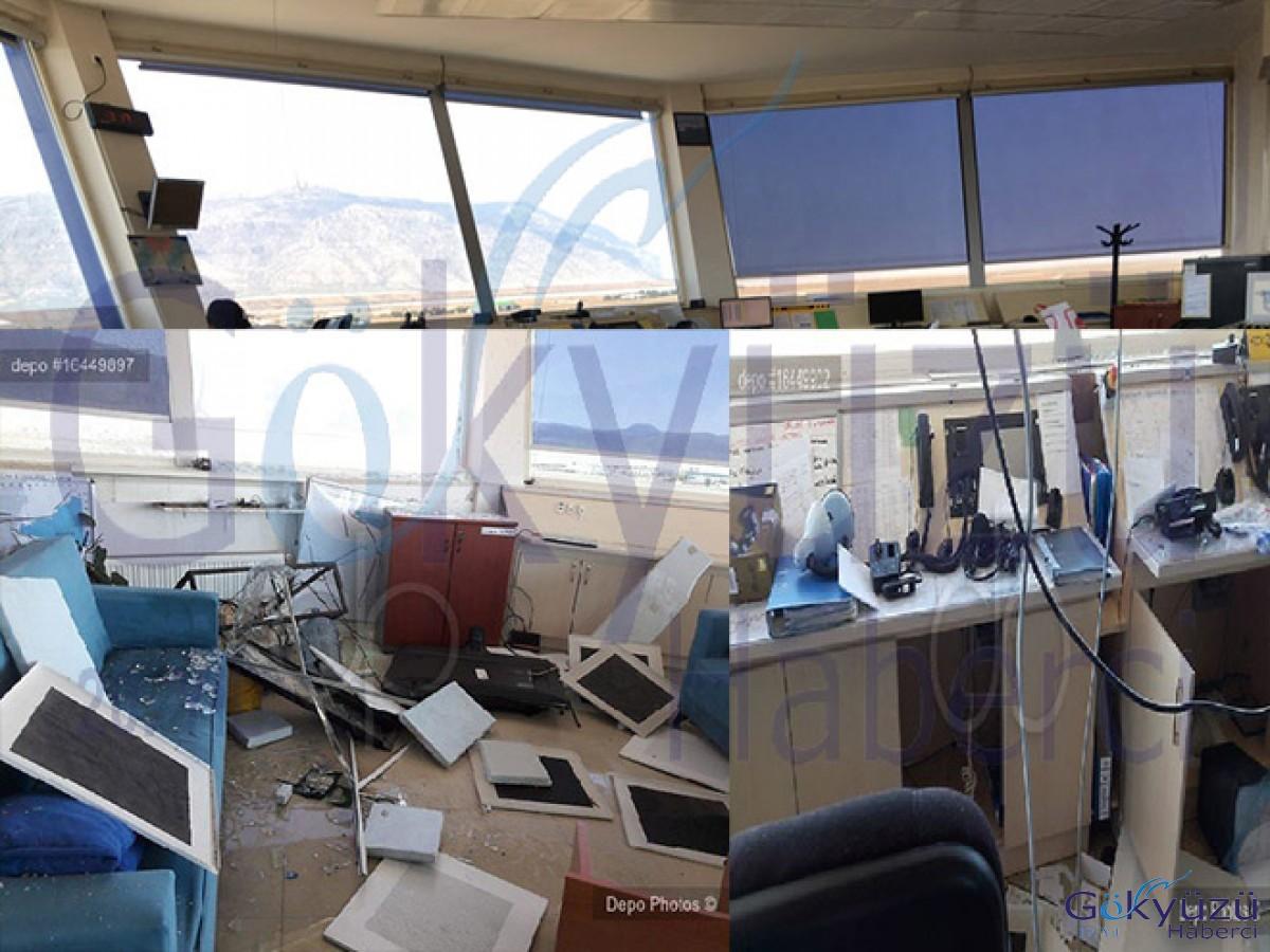 Çardak Havalimanı kulesi savaş alanına döndü!