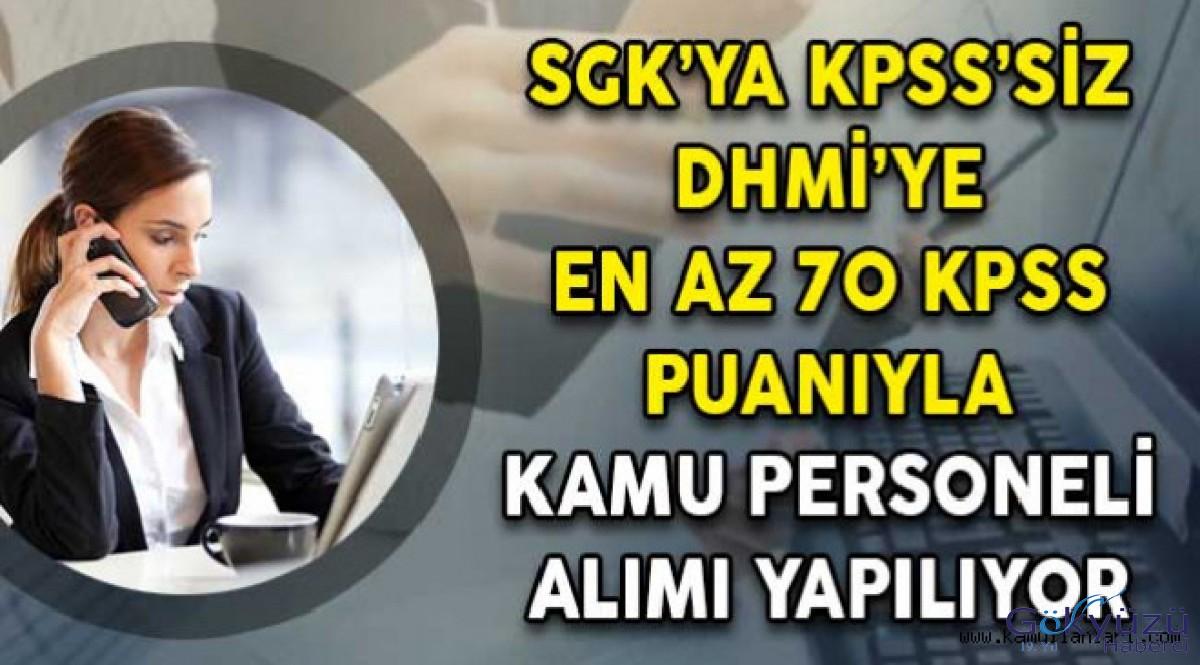 DHMİ'ye En Az 70 KPSS Puanıyla Personel Alımı Yapıyor