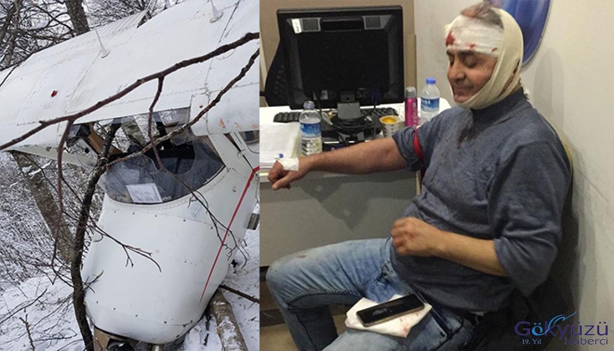 Eğitim uçağı düştü: 1 yaralı