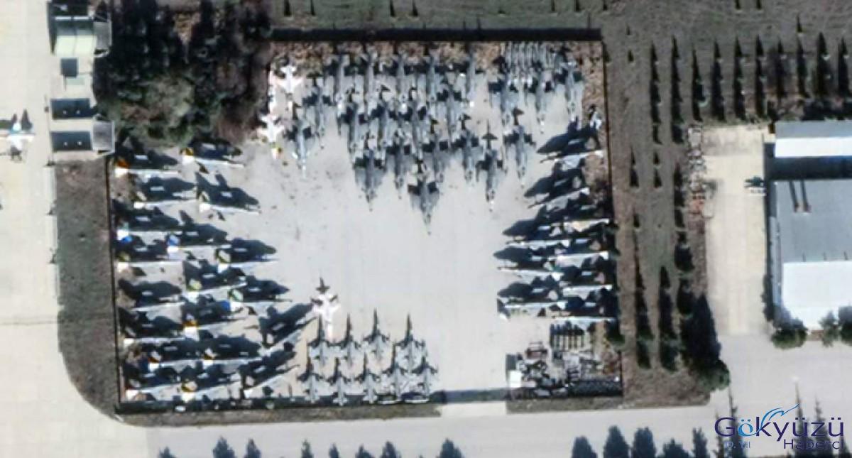 Emekli edilen savaş uçakları havadan görüntülendi!