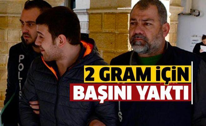 Ercan'da narkotik köpeğine takıldı