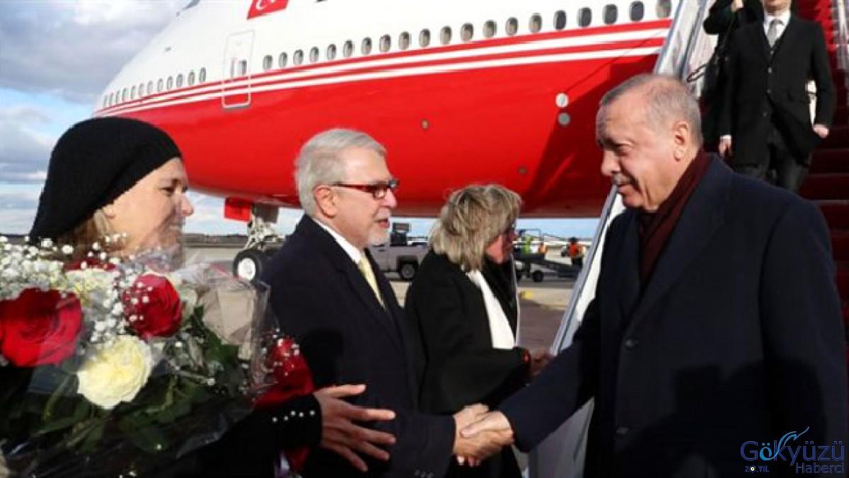 Erdoğan'ın uçağı Washington'a indi!