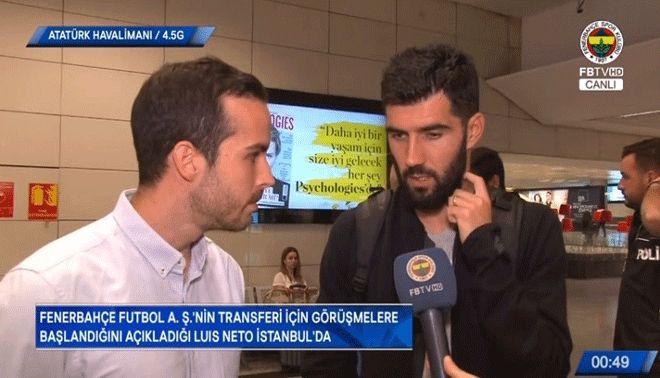Fenerbahçe'nin yeni transferi Neto İstanbul'da!