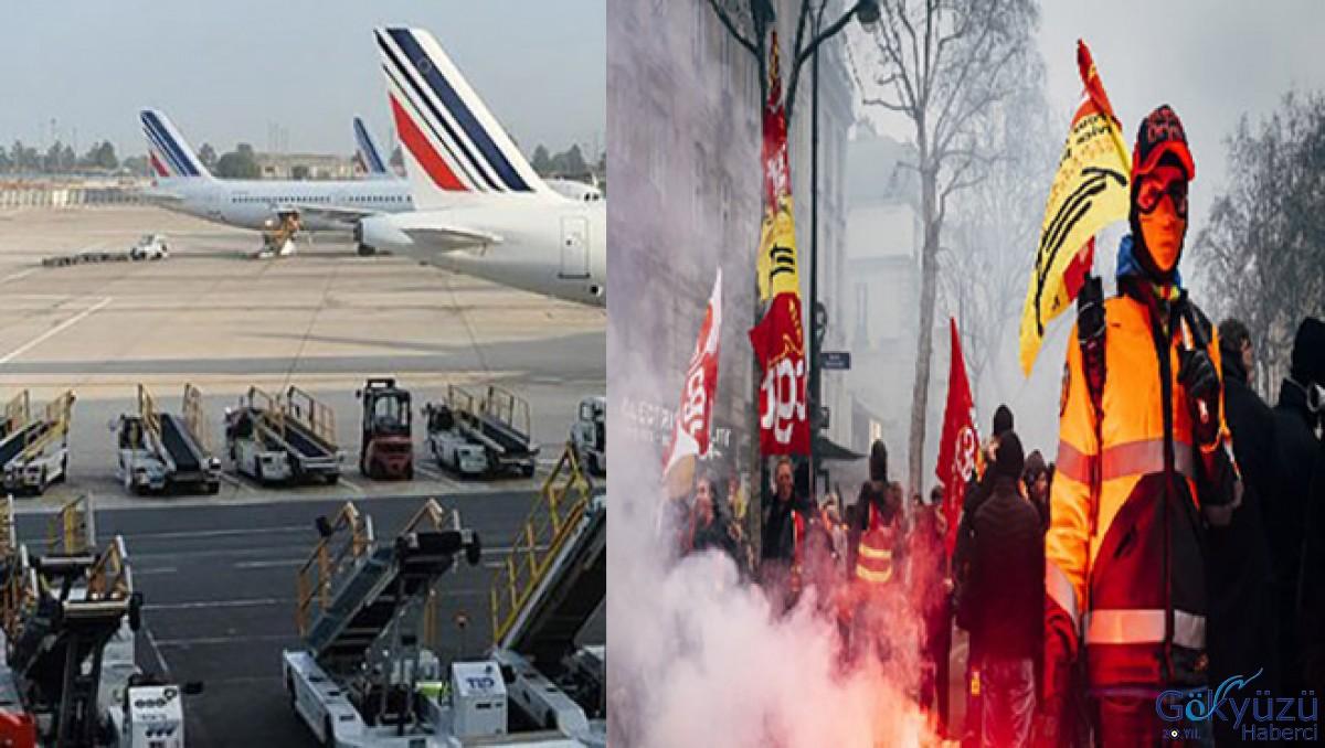 Fransa'da grevler hava ulaşımını felç etti!