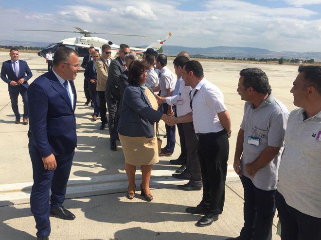 Funda Ocak,Amasya Merzifon Havalimanı'nda