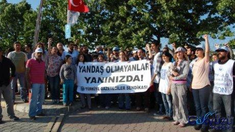 Gazeteciler THY işçilerini ziyaret etti