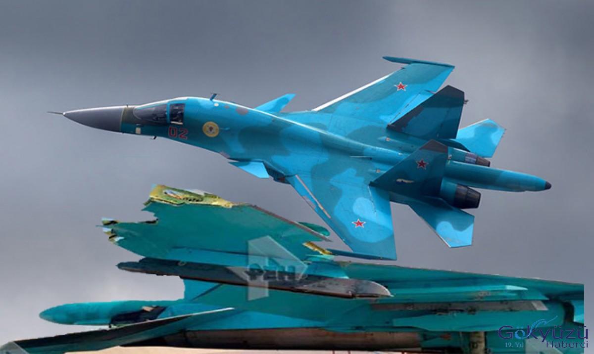 Havada çarpışan Su-34'ün resmi yayınlandı