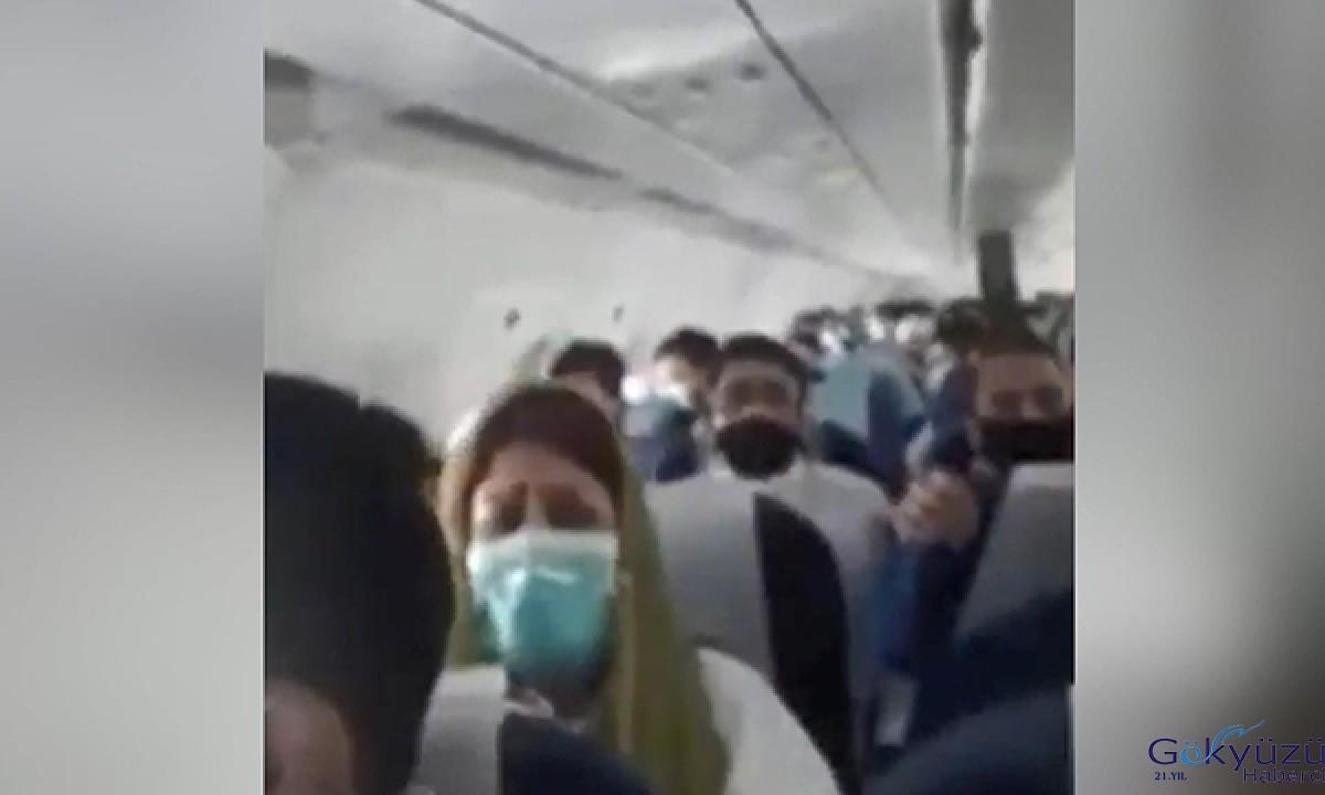 Hindistan'a sefer yapan yolcu uçağı türbülansa girdi
