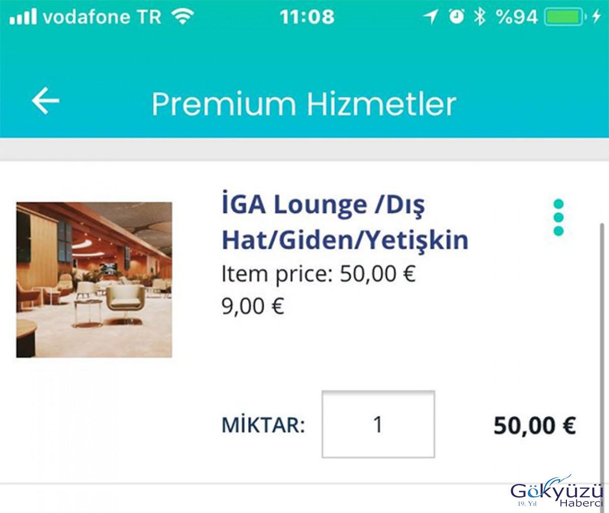 İGA'da Premium paketlerdeki fiyat farklı