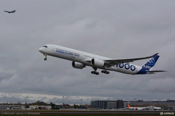 A350-1000 İlk Uçuşu İçin Havalandı
