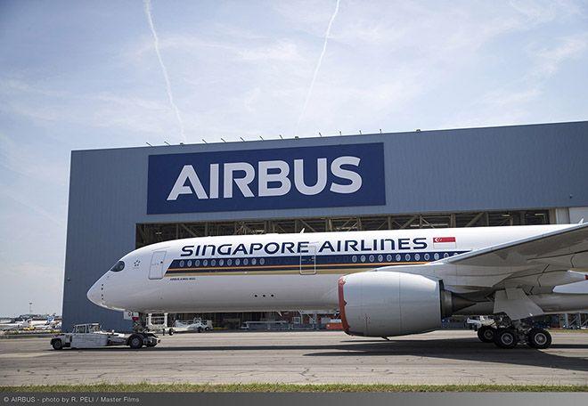 İlk A350 XWB'nin boyaması tamamlandı!