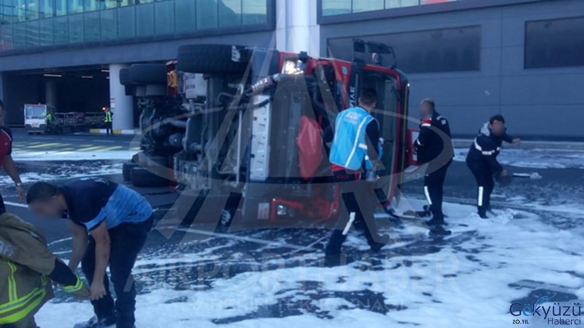 İstanbul Havalimanı Apronunda kaza!