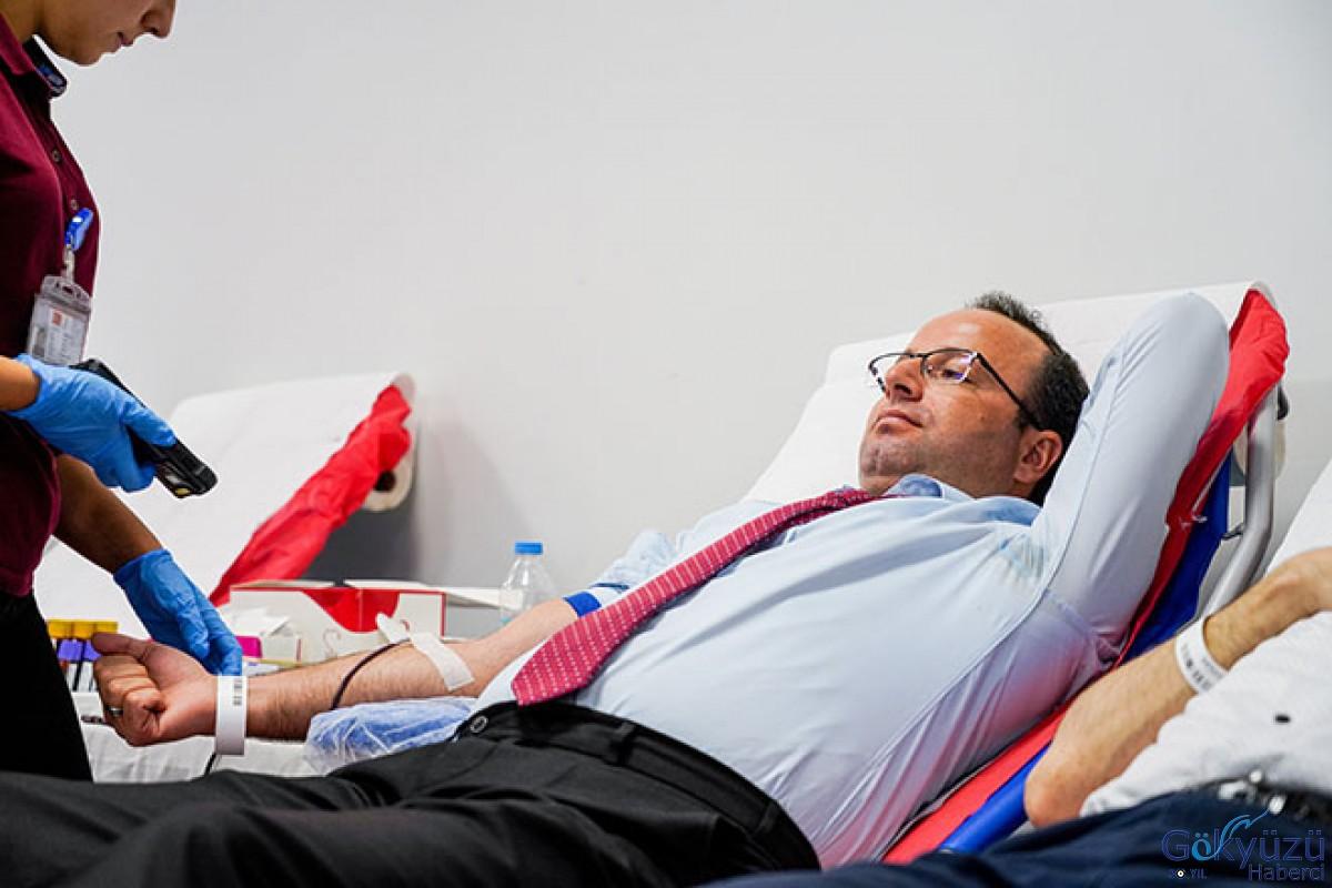 İstanbul Havalimanı'nda - M Kontuarı kan bağışı