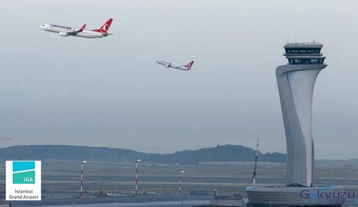İstanbul Havalimanı'ndan 31 bin 497 uçak iniş kalkış taptı