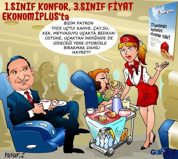 İstanbul'a EkonomiPlus konforuyla seyahat