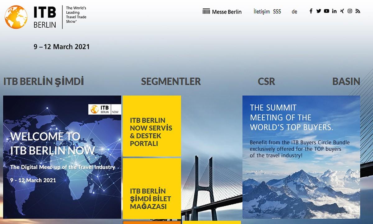 ITB Berlin sanal fuarı Katılım ücreti 100 euro