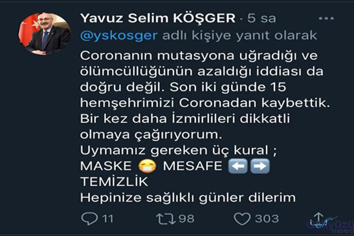 İzmir Valisi Köşger: Vaka sayısı 3,5 kat arttı