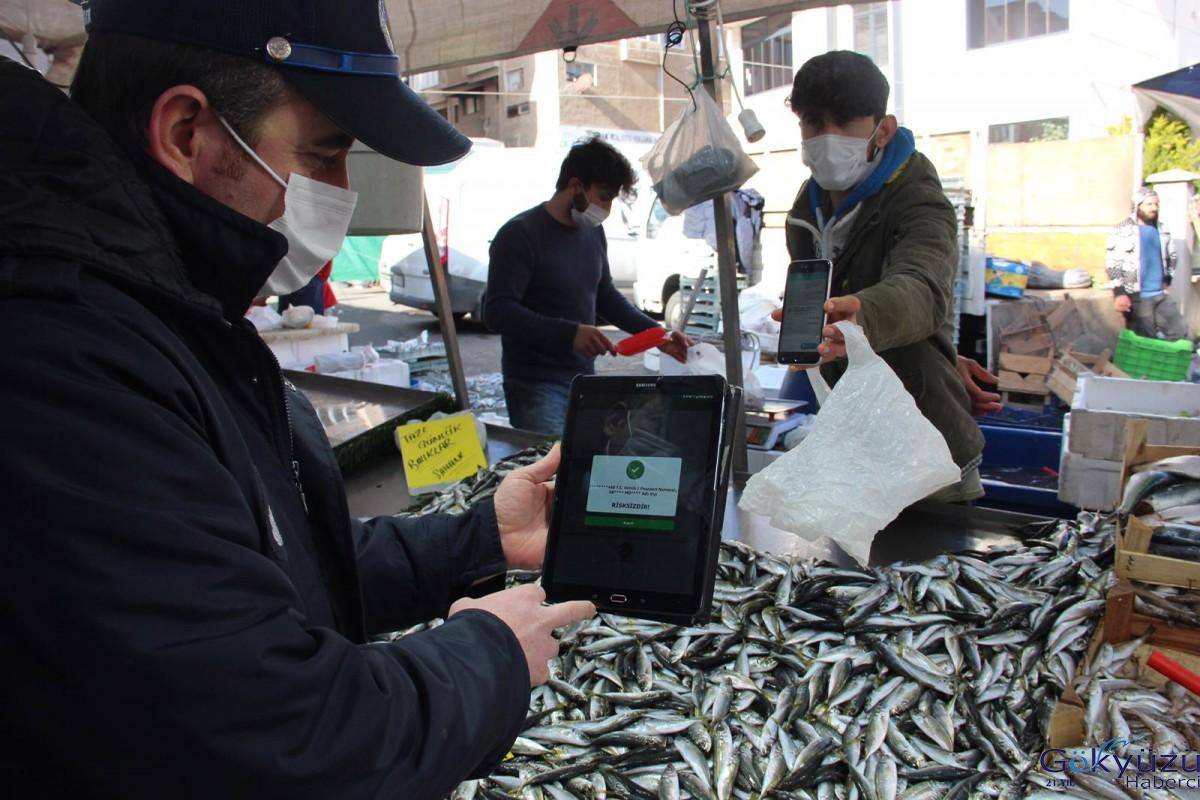 Kartal Belediyesi'nin semt pazarı HES kodu denetimleri sürüyor