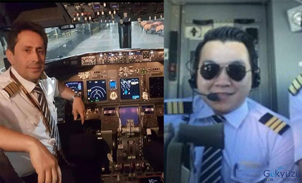 Kaza yapan uçağın pilotlarının fotoğrafları
