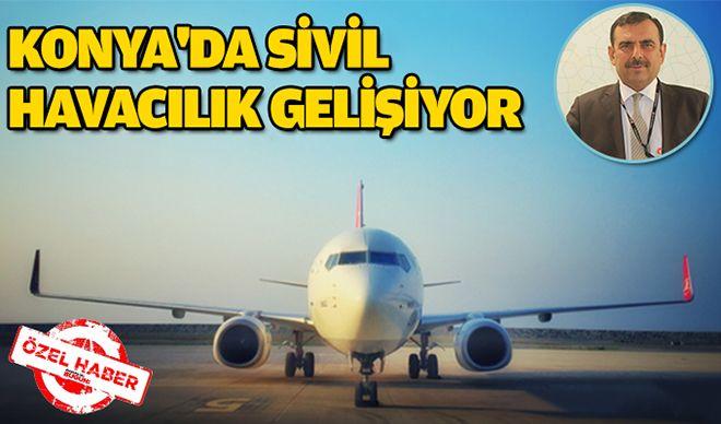 Konya'da sivil havacılık gelişiyor