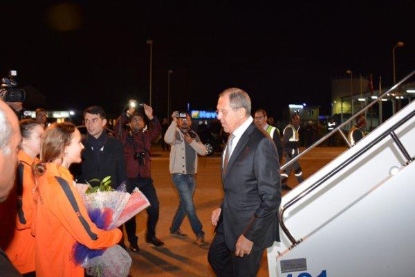 Lavrov, Gazipaşa-Alanya Havalimanı'nda Karşılandı