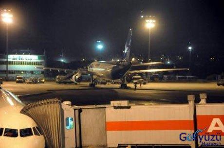 MNG Kargo Uçağının Motoru Alev Aldı