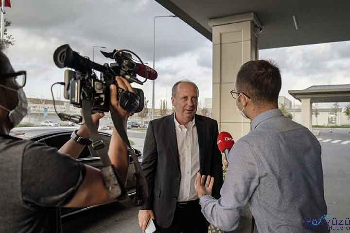 Muharrem İnce İstanbul Havalimanı'nda konuştu