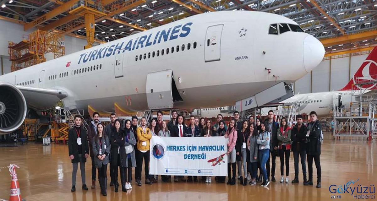Öğrenciler Turkish Technic Tesislerini gezdi