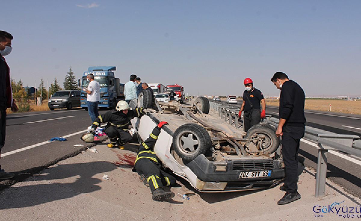 Otomobil takla attı; aynı aileden 2'si çocuk 4 kişi yaralı