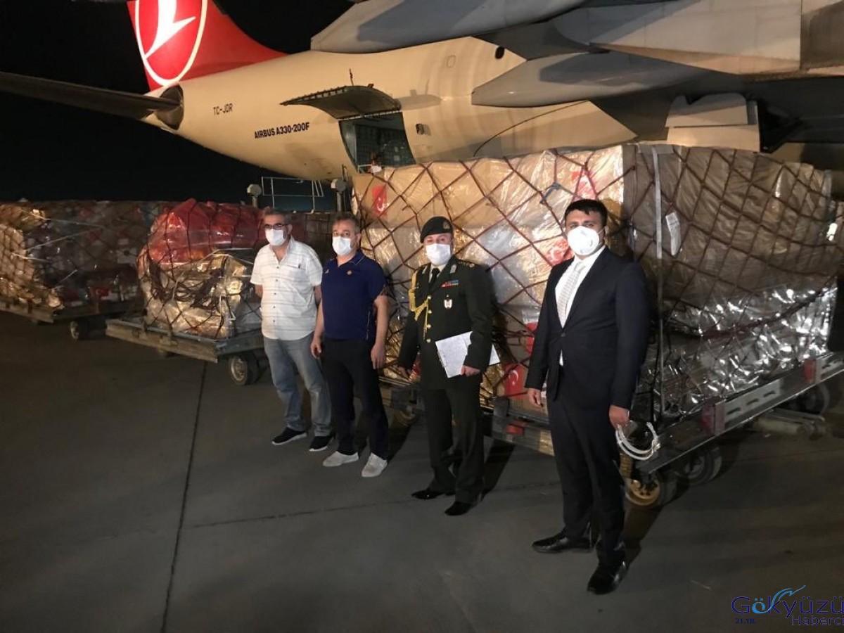Özbekistan'a tıbbi yardım malzemeleri ulaştırıldı.