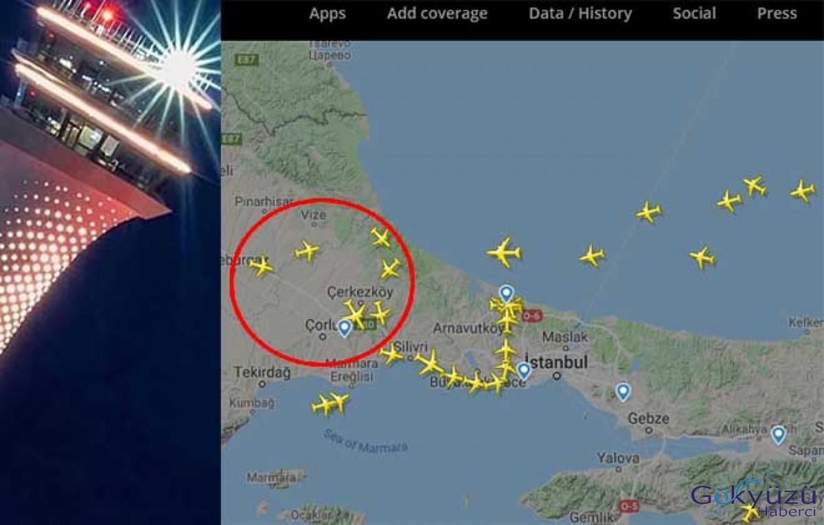 Pas geçen THY uçağı Çorlu'ya indi!